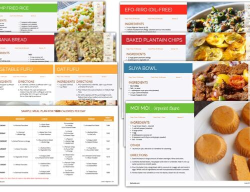 Tracking Calories in Nigerian foods using Myfitnesspal